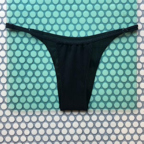Minimale Animale Trophy Ribbed Bikini Bottom - Black