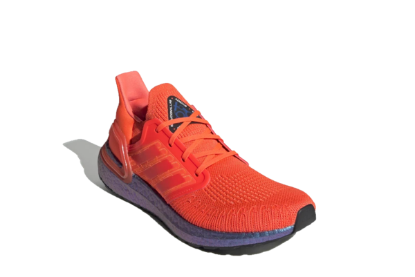 adidas UltraBoost 20 Solar Sneaker - Red/Boost Blue Violet