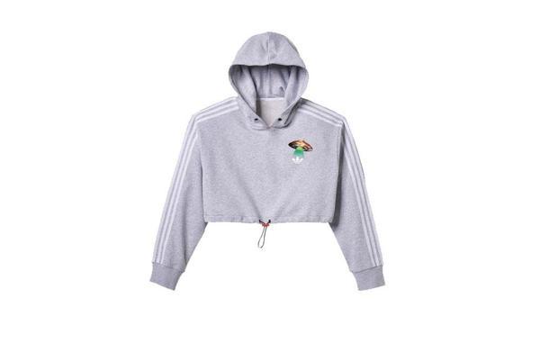 adidas x Fiorucci Cropped Hoodie - Grey
