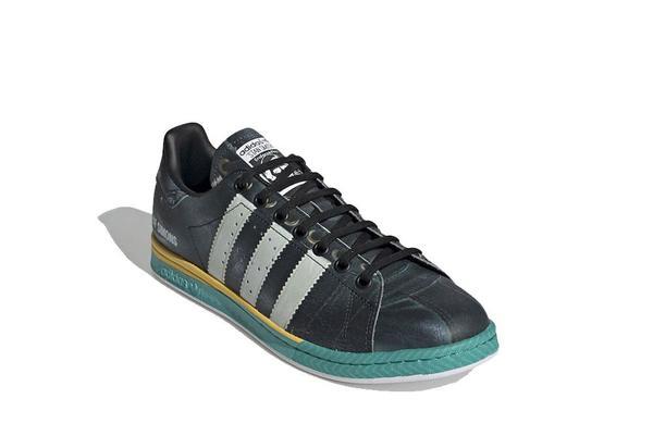 adidas x Raf Simons Samba Stan Smith Sneaker - Core Black/Bright Blue