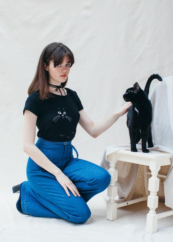 Samantha Pleet Nine Lives Tee - Black
