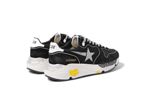 Golden Goose Running Sole Sneakers - Black Lycra/Silver Star