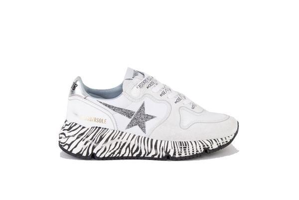 Golden Goose Running Sole Sneakers - Crystal Star/Zebra Sole