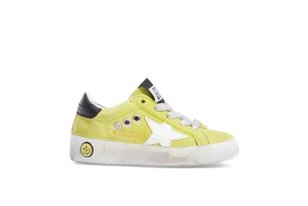 Kids Golden Goose Superstar Suede Sneakers - Green Lime