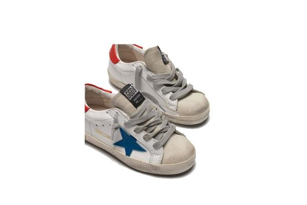 Kids Golden Goose Superstar Leather Sneakers - White