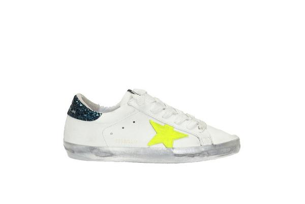 Golden Goose Superstar Leather Sneakers - White/Yellow Star