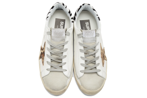 Golden Goose Superstar Leather Sneajer - White/Pony Leo