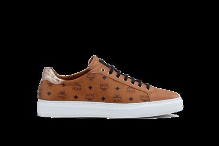 MCM Low Top Classic Court Sneakers - Visetos Cognac