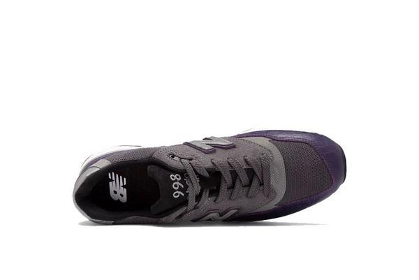 New Balance 998 Sneaker - Purple/Charcoal/Black