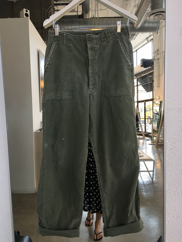 Loveless Studded Vintage Military Pant