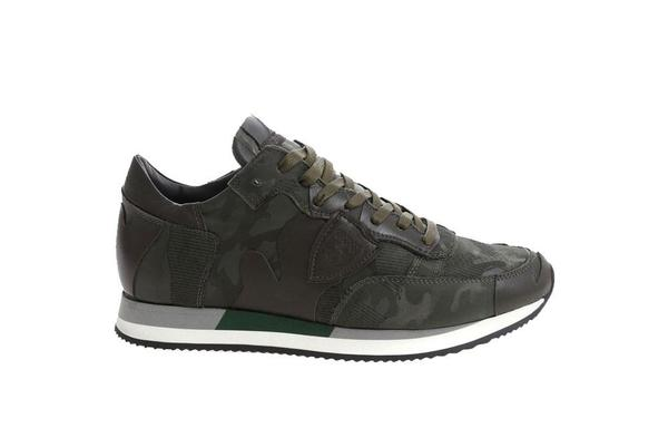 Philippe Model Tropez Sneaker - Camouflage 3D Vert
