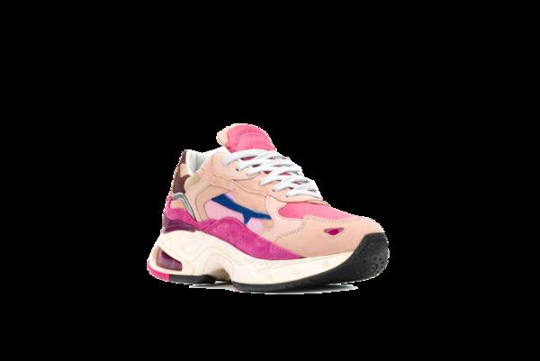Premiata Sharky Sneakers - Pink/Burgundy
