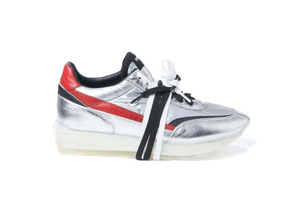 RBRSL Scarpa Osa Upper Manmade Sole Sneaker - Silver/Red