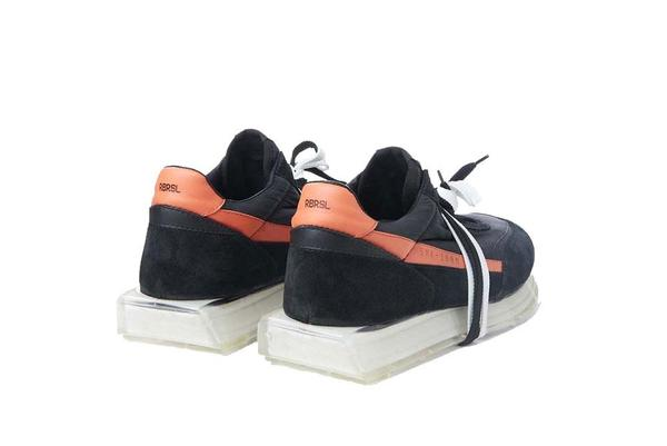 RBRSL Scarpa Palo Manmade Sole Sneaker - Black/Orange