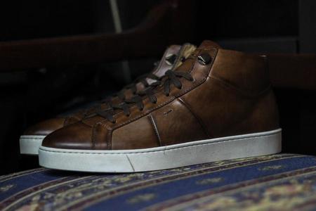 Santoni Denali Sneaker - Brown
