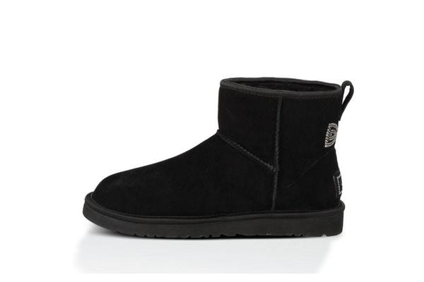 UGG Classic Mini Crystal Bow Boot - Black