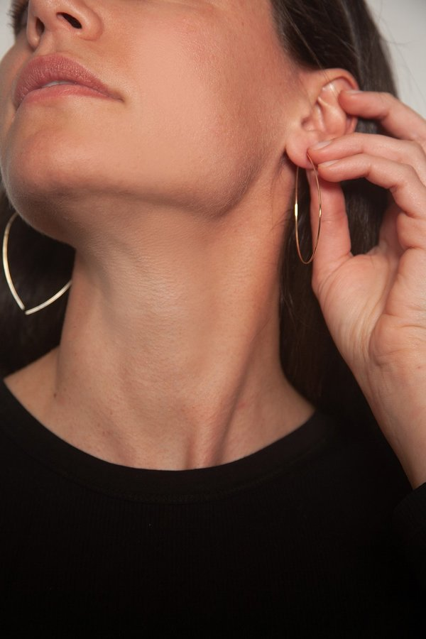 MATERIAL DROPS DROPS EARRINGS - silver