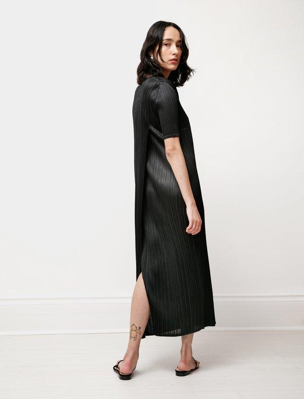 Issey Miyake Pleats Please Double Back Lustre Dress - Black