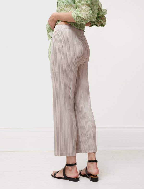 Issey Miyake Pleats Please Thicker Bottoms Pants - Beige