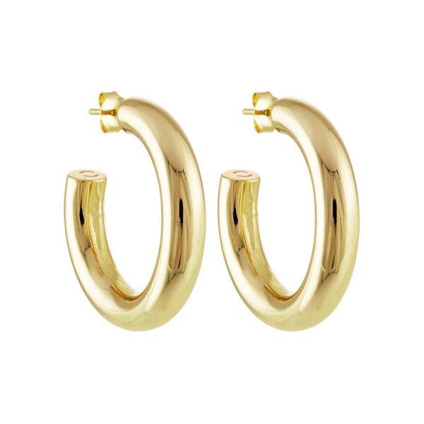 "Machete 1"" Perfect Hoops - 14k Gold"