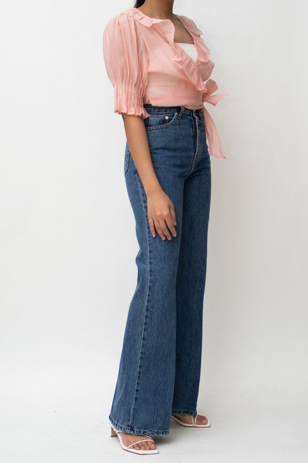 W A N T S Flare High Rise Jeans - Blue
