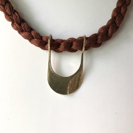 Rebekah J Designs Canal Necklace - Brass/Cocoa