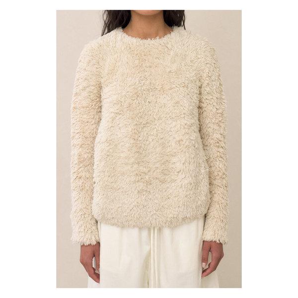 Lauren Manoogian Handknit Tuft Pullover - Cream