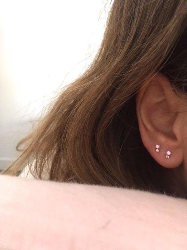 Hortense Double D Earrings - Pink Sapphire