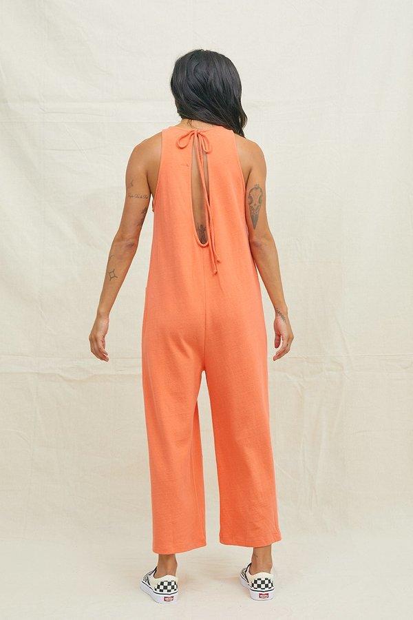BACK BEAT RAGS Hemp Everyday Jumpsuit - Blood Orange