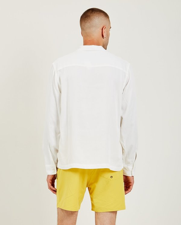 Saturdays NYC Marco Flower Patch Long Sleeve Shirt