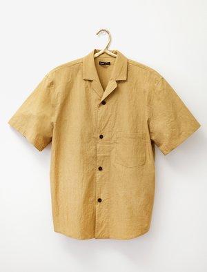 Frank Leder Paper Cotton Camp Shirt - Yellow