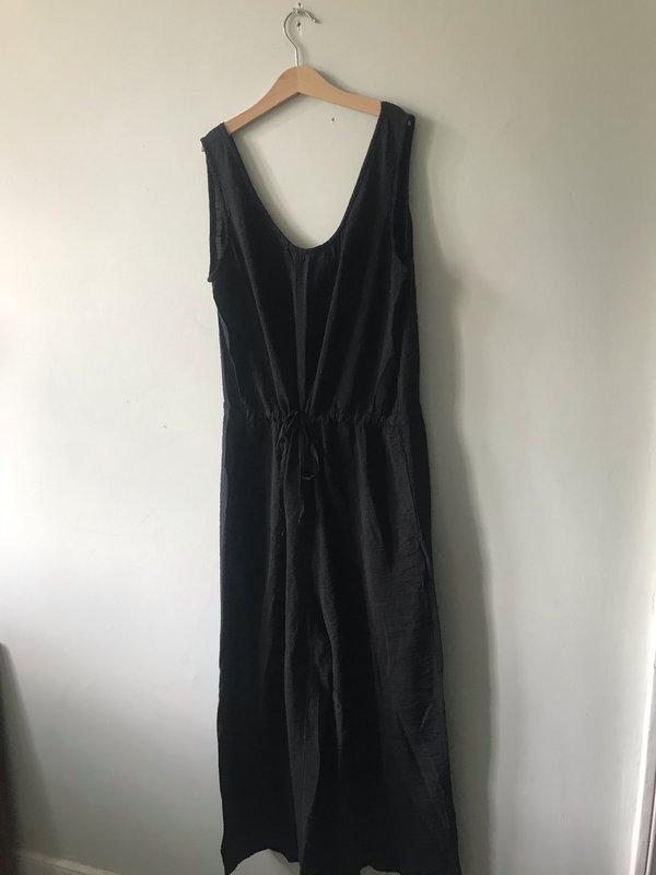 cut-loose Rayon Jumpsuit - Black