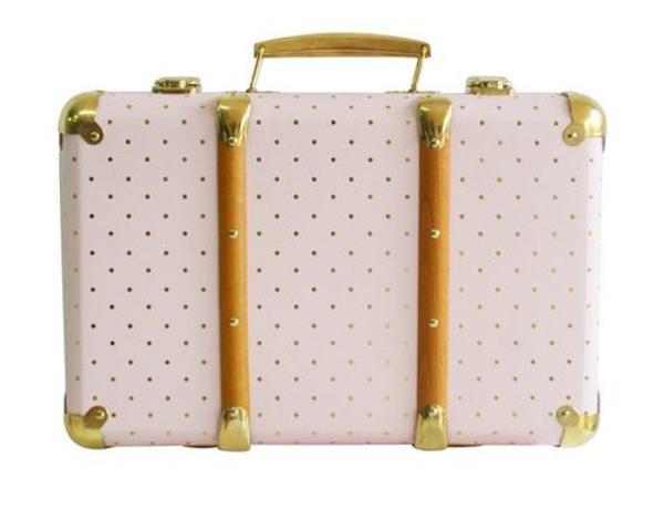 kids Alimrose Vintage Style Carry Case - Pink Gold Spot