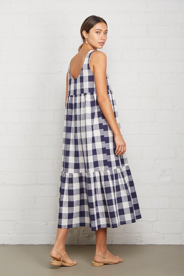 Rachel Pally Picnic Plaid Bri Dress - Navy/Ivory