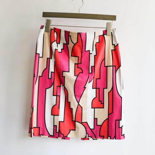 [pre-loved] Emilio Pucci Printed Mini Skirt - Pink