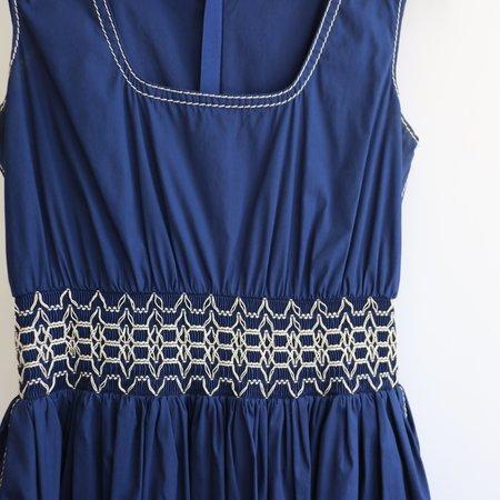[pre-loved] Prada Cinched Waist Dress - Blue