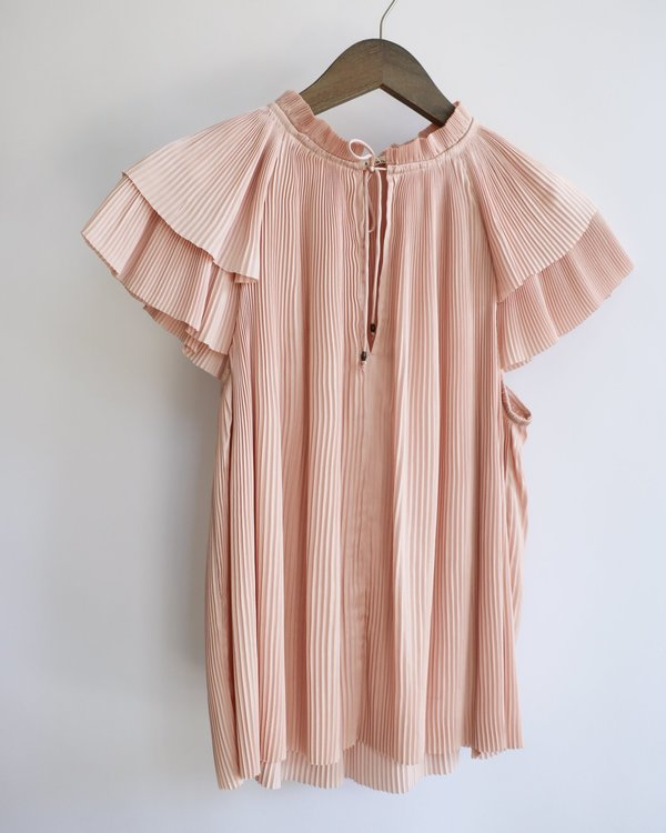 [pre-loved] Ulla Johnson Pleated Blouse - Pink
