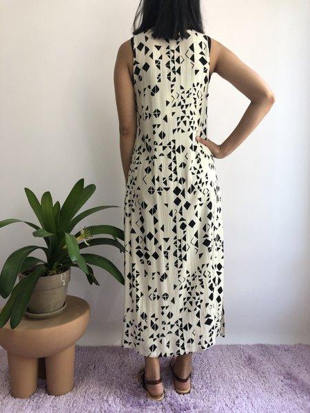 Melow Design Amun-ra Dress - Ecru Et Noir
