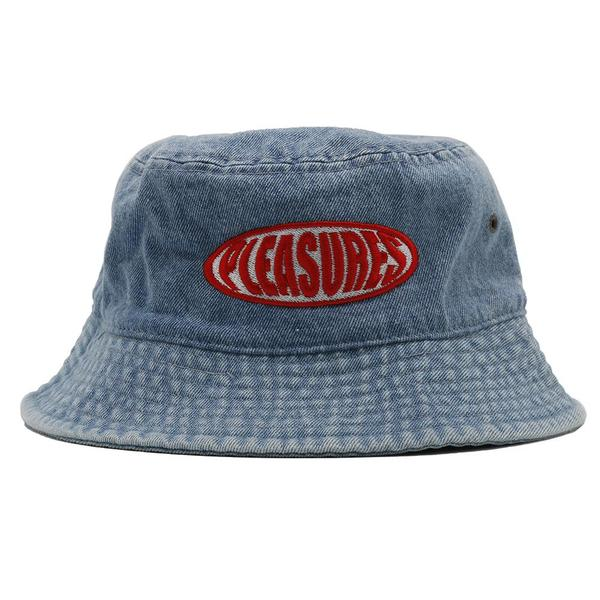 Pleasures Bubble Logo Bucket Hat - Washed Denim