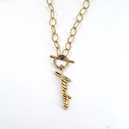 Godfrey and Rose Freedom Necklace - Gold Vermeil
