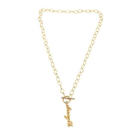 Godfrey and Rose Strength Necklace - Gold Vermeil