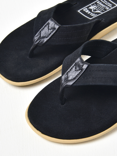 Island Slipper Classic Ultimate Suede Sandals - Black