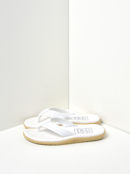 Island Slipper Classic Leather Sandals - White