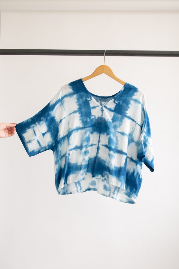 Conrado Bailey Boxy Top Cotton #4 - Indigo