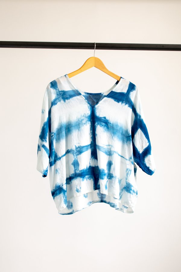 Conrado Bailey Boxy Top Cotton #5 - Indigo