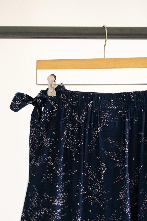 Conrado Jayden Wrap Skirt - Navy Print