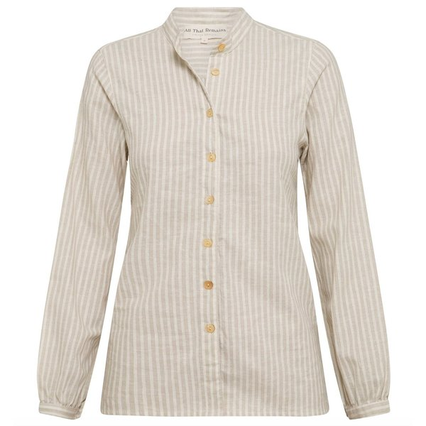 All That Remains Lou Shirt - Oat/Twig Stripe