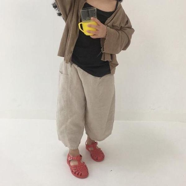 Kids Mini Bongbong Fork Trouser - Natural