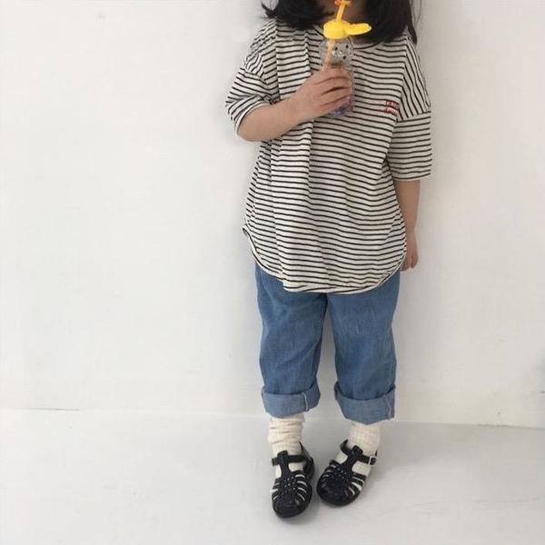 Kids Mini Bongbong Denim Pant - Vintage Blue