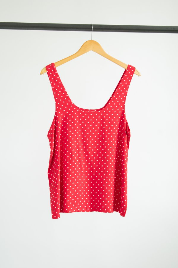 shopconrado Robin Tank Top - Red Dots